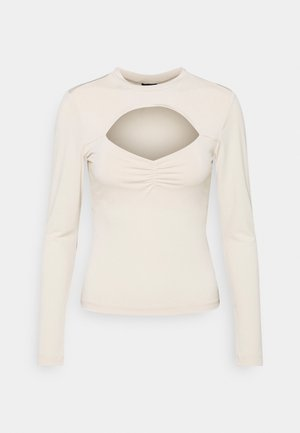 HOLLY - Long sleeved top - beige
