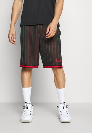DNA SHORT - Sports shorts - black/chile red
