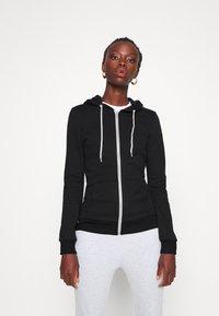 Even&Odd Tall - Zip-up hoodie - black - 0