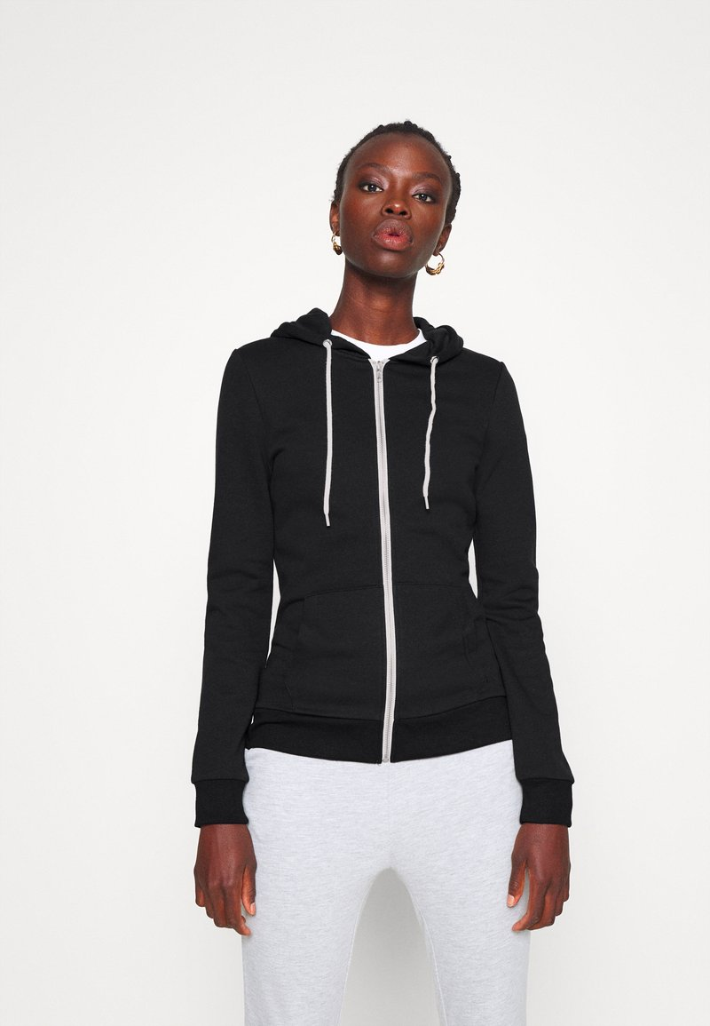 Even&Odd Tall - Zip-up hoodie - black