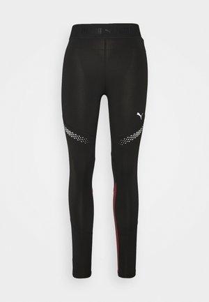 RUNNER REGULAR RISE FULL - Leggings - black/burgundy