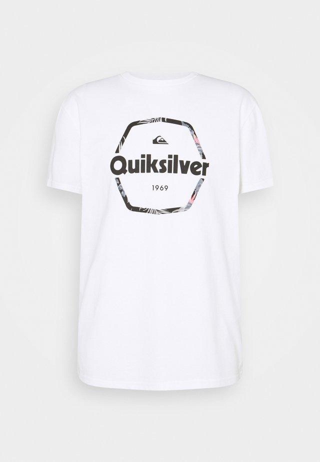 HARD WIRED  - T-shirt imprimé - white