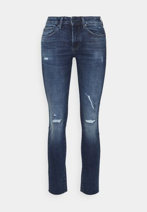 3301 MID SKINNY ANKLE - Slim fit jeans - faded ripped baltic sea