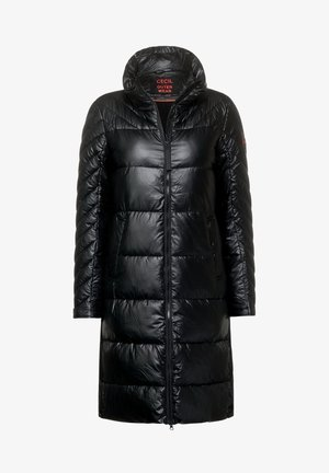 MIT WAXED-OBERFLÄCHE - Winter coat - schwarz
