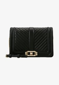 Rebecca Minkoff - CHEVRON QUILTED SMALL LOVE - Across body bag - black