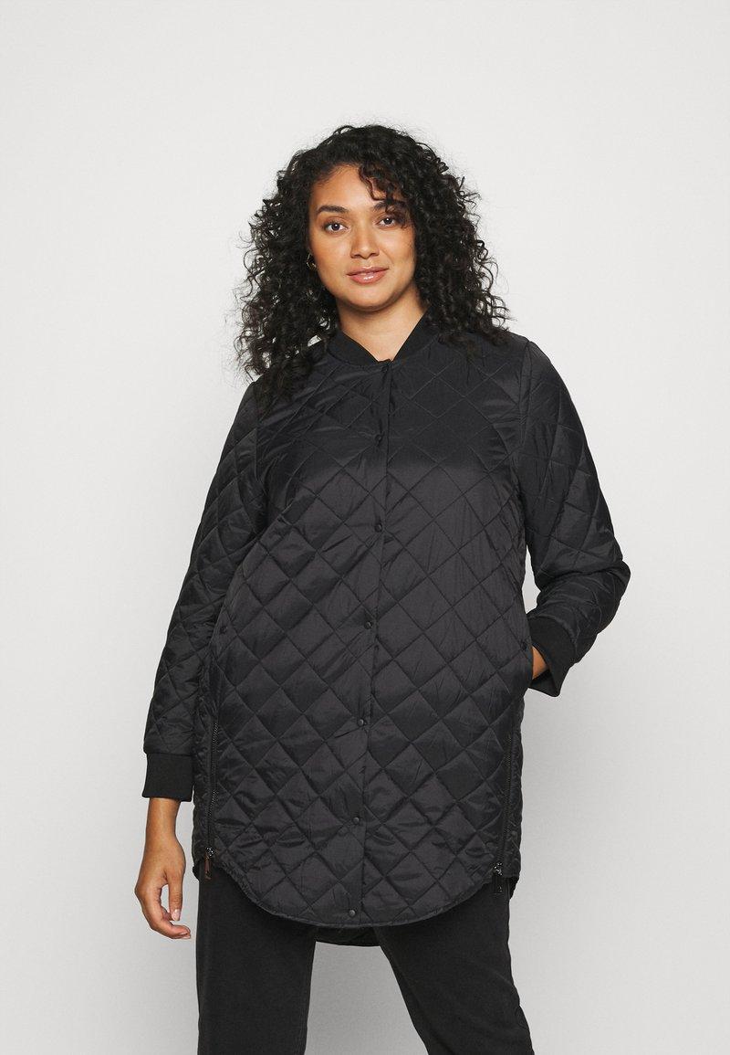Vero Moda Curve - VMHAYLE 3/4 JACKET CURVE - Short coat - black