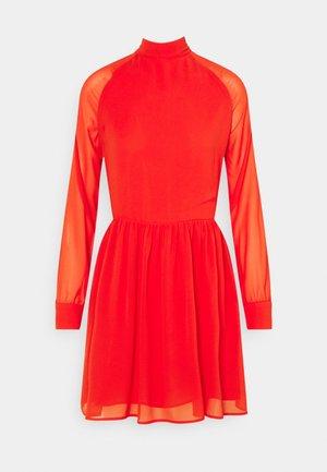 LADIES DRESS - Korte jurk - red orange