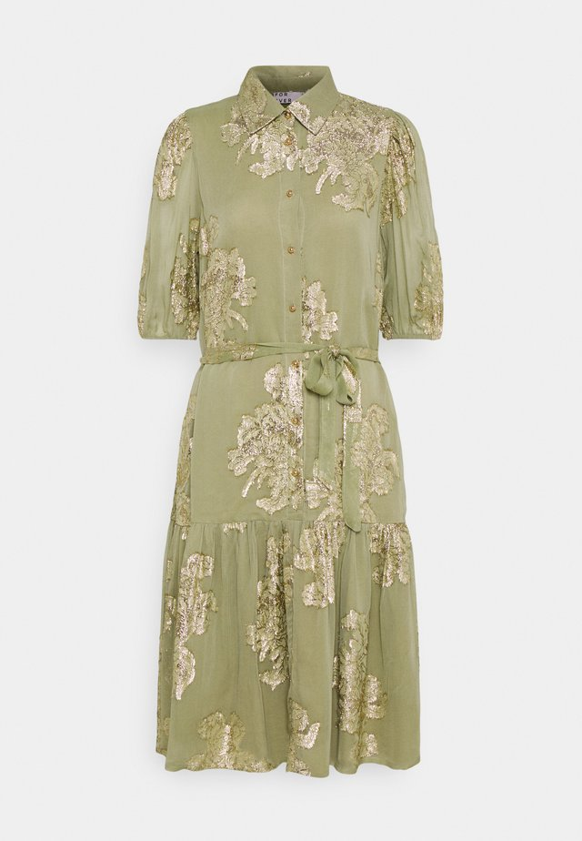 FVIDUN DRESS  - Shirt dress - swamp
