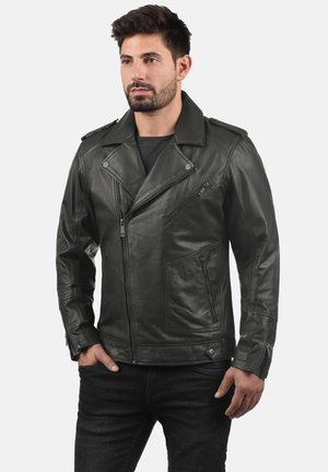 MAMASH - Leather jacket - black