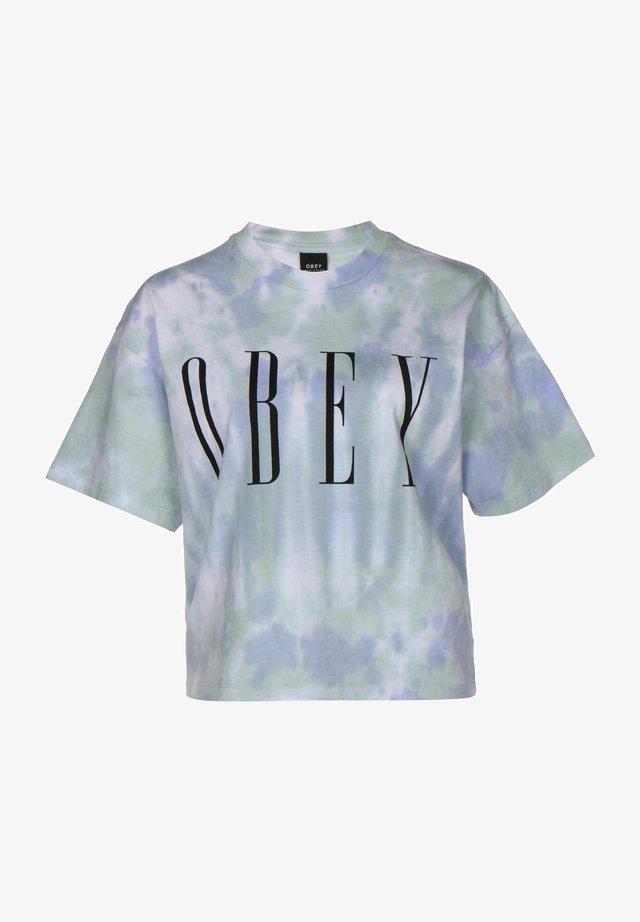 T-shirt con stampa - purple half spiral tie dye