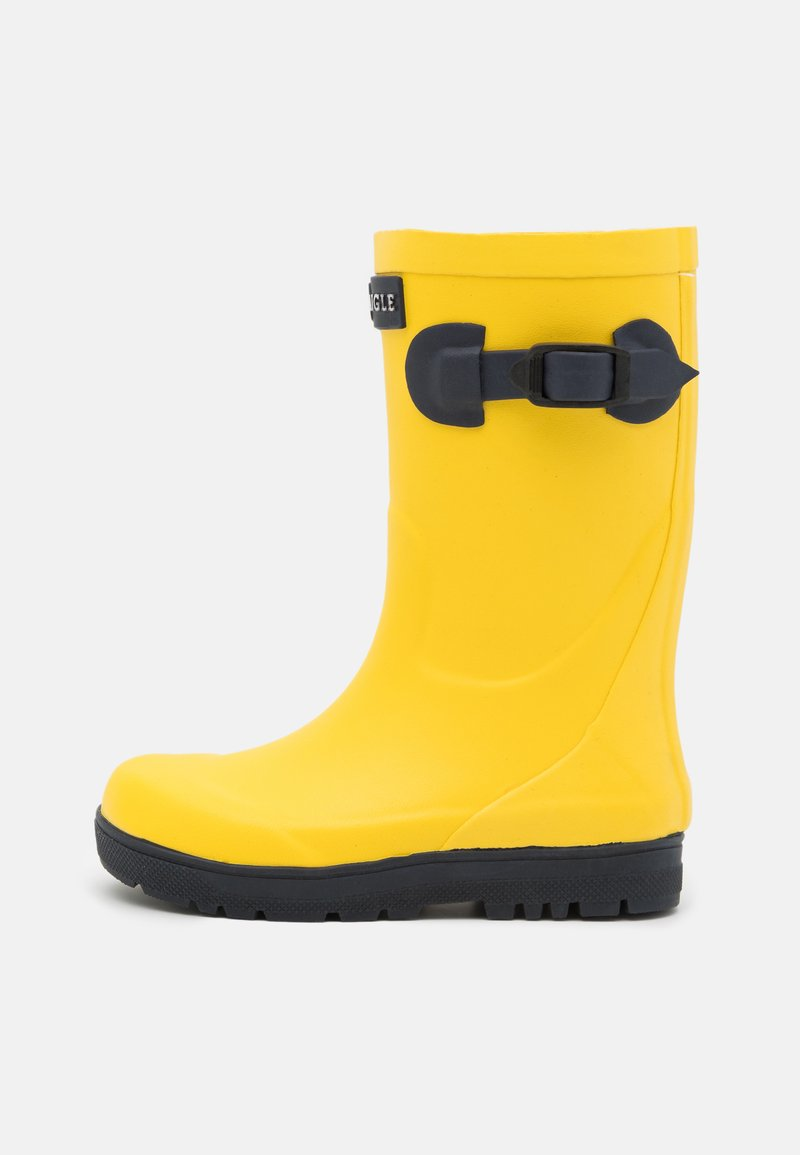 Aigle - WOODYPOP2 UNISEX - Wellies - jaune/indigo
