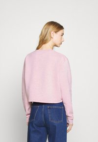 NEW girl ORDER - EMBROIDERED TEXT ELASTIC HEM - Sweatshirt - pink - 2