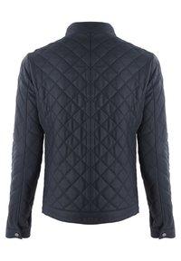 Giorgio Di Mare - Leather jacket - navy tafta - 1