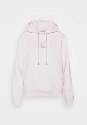 MONOGRAM LOGO HOODIE - Sweat à capuche - pearly pink/quiet grey