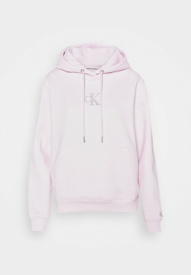 MONOGRAM LOGO HOODIE - Bluza z kapturem - pearly pink/quiet grey