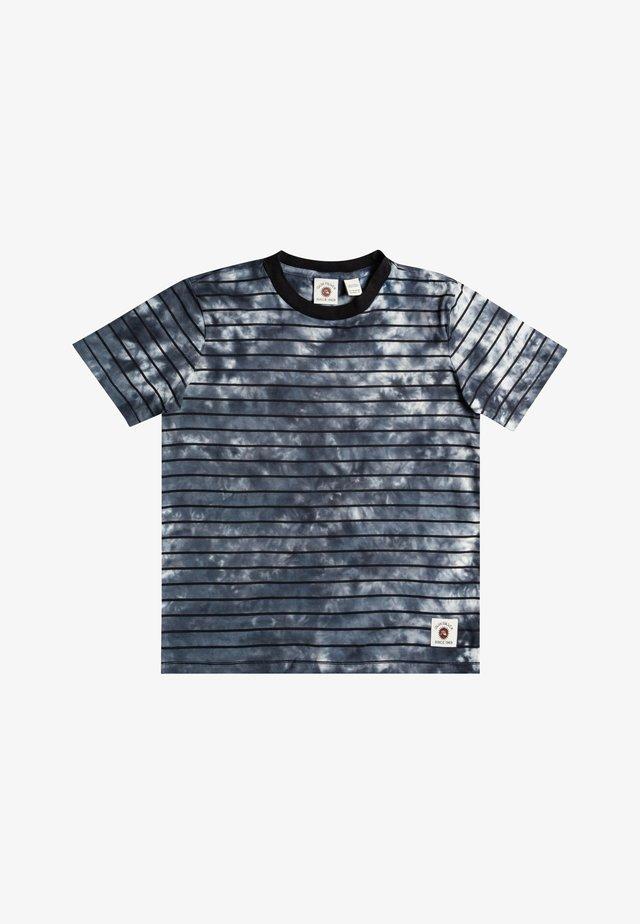 SLOW LIGHT - T-shirt print - black stripe tie dye