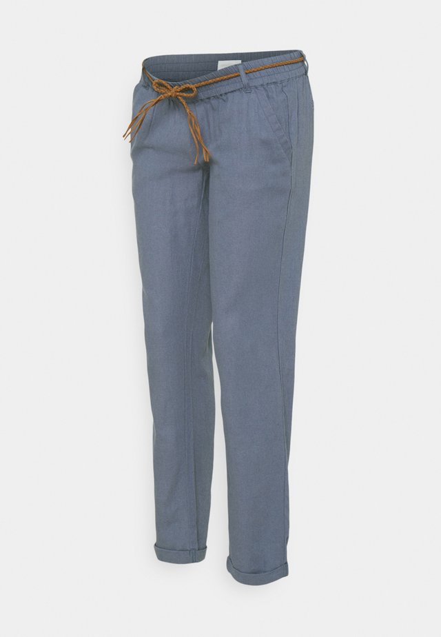 MLBEACH BELT PANT - Pantalon classique - china blue