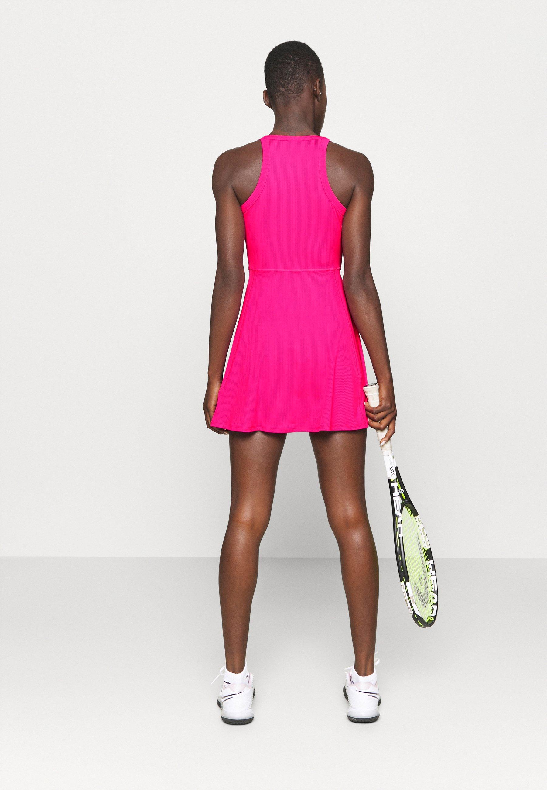 Nike Performance DRY DRESS - Sports dress - vivid pink/white rj6xt