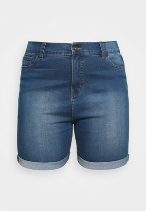 PLUS - Jeansshorts - light vintage blue