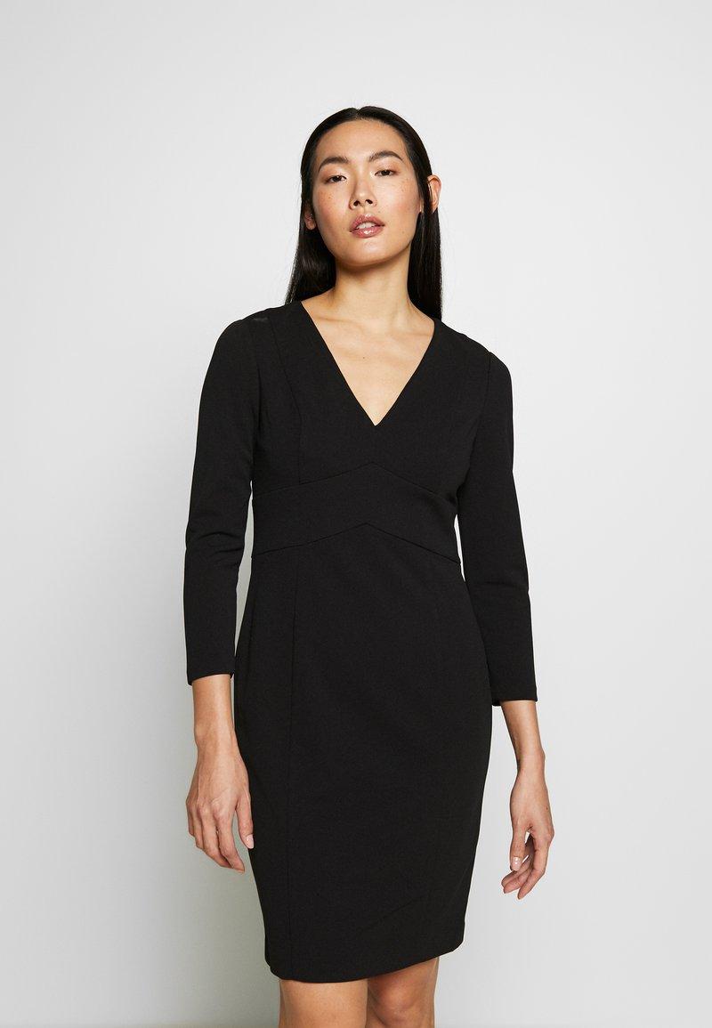 DKNY - EMPIRE WAIST SHEATH - Shift dress - black