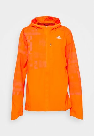 OWN THE RUN WIND RESPONSE  - Sports jacket - app signal orange/reflective silver