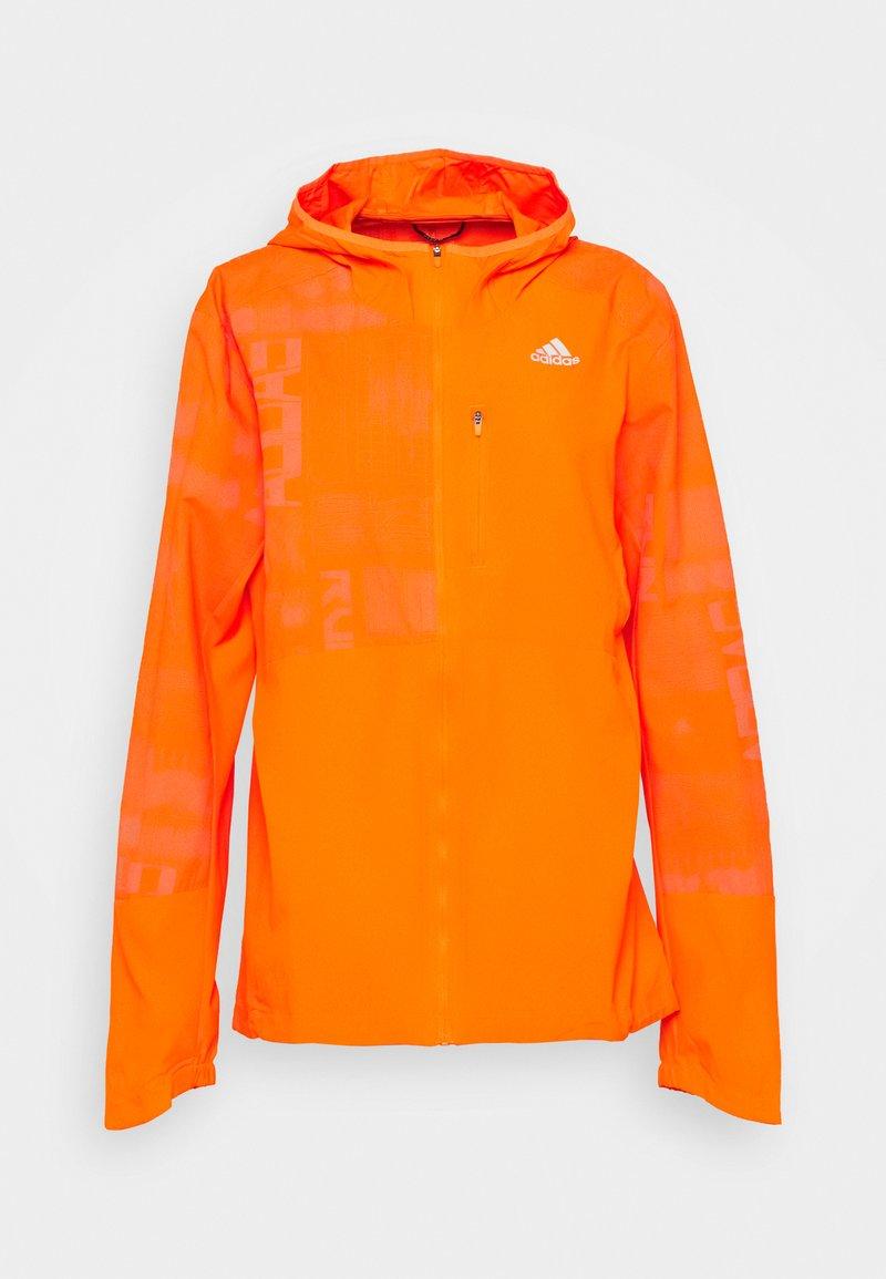 adidas Performance - OWN THE RUN WIND RESPONSE  - Sports jacket - app signal orange/reflective silver