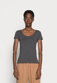Anna Field - 3 PACK - T-shirts basic - white/black/dark grey - 3