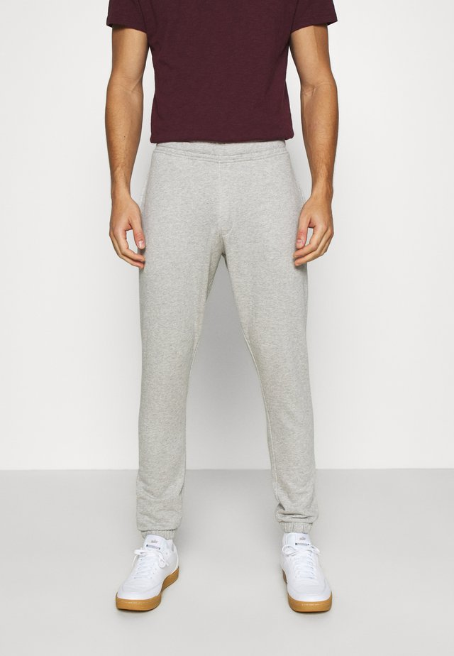 SLHCREW  - Tracksuit bottoms - light grey melange