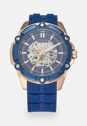 Watch - blue/rosegold-coloured