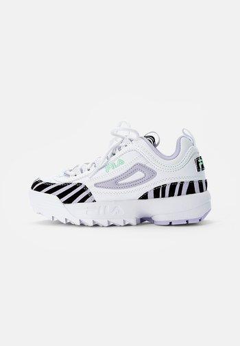 DISRUPTOR ZEBRA KIDS - Sneakers basse - white/lavenderblue