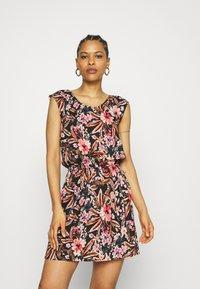 LASCANA - BEACH DRESS - Day dress - schwarz/apricot - 0