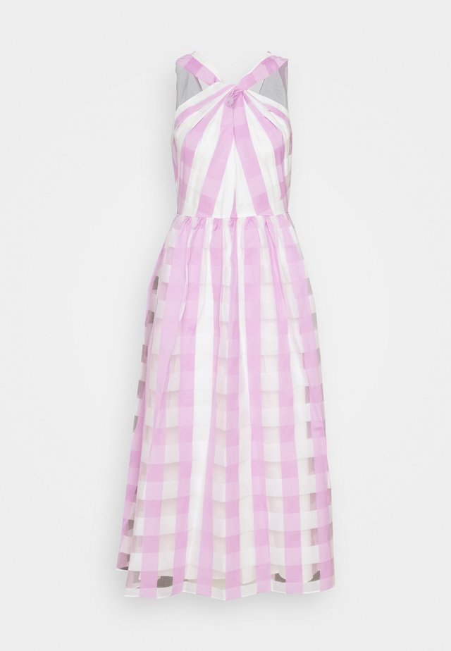 GINGHAM DRESS - Cocktail dress / Party dress - fresh lilac