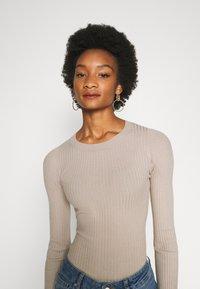 Anna Field - BASIC- RIBBED JUMPER - Pullover - gray tan - 4