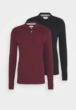 2 PACK - Poloshirt - bordeaux/black