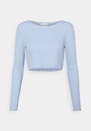 VIBALU CROPPED - Long sleeved top - cashmere blue