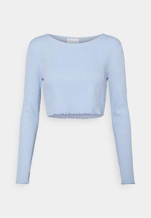 VIBALU CROPPED - Maglietta a manica lunga - cashmere blue