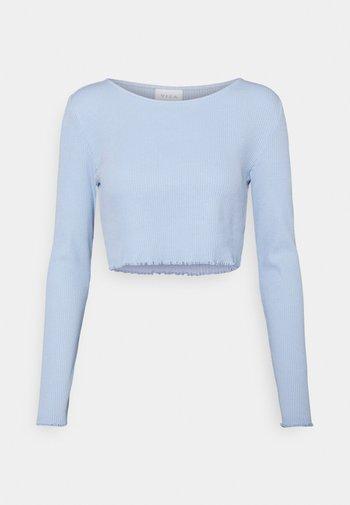VIBALU CROPPED - Bluzka z długim rękawem - cashmere blue