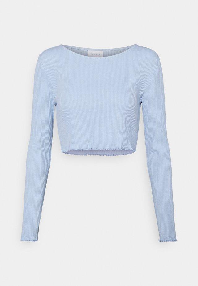 VIBALU CROPPED - Top sdlouhým rukávem - cashmere blue