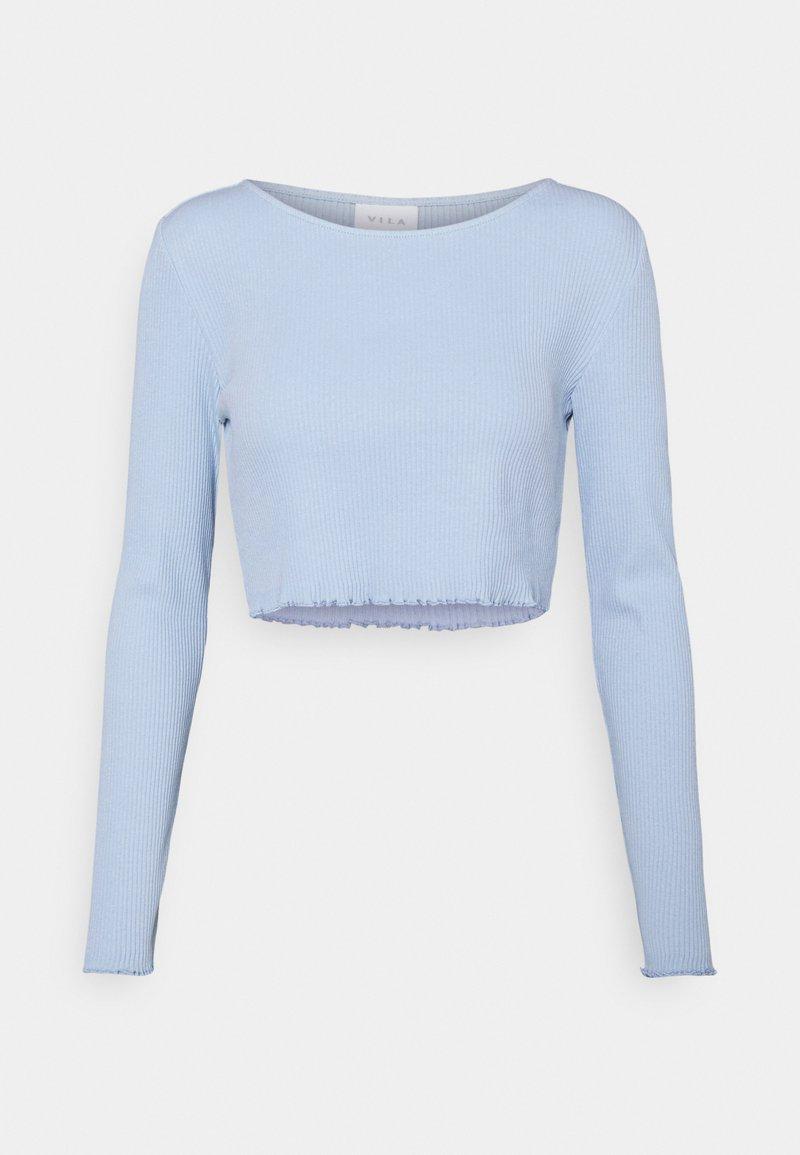 Vila - VIBALU CROPPED - Camiseta de manga larga - cashmere blue