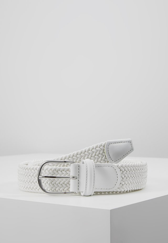 BELT - Flechtgürtel - white
