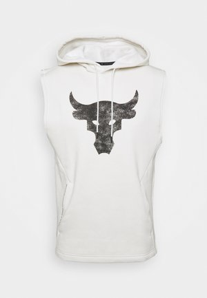 PROJECT ROCK HOODIE - Mikina s kapucí - summit white