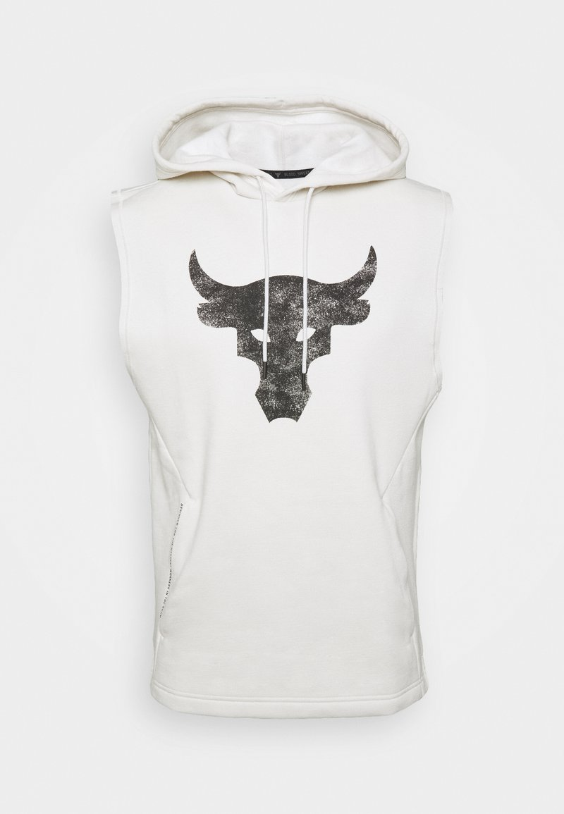 Under Armour - PROJECT ROCK HOODIE - Hoodie - summit white