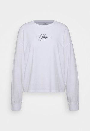 EMBROIDERED SCRIPT FONT - Longsleeve - white