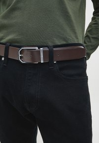Calvin Klein - REVERSIBLE - Belt - black/dark brown - 0