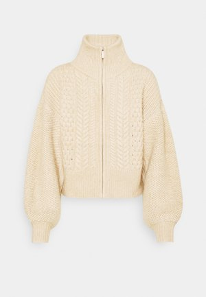 CABLE ZIP THROUGH - Jumper - oat