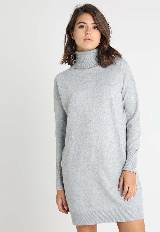 VMBRILLIANT ROLLNECK DRESS  - Neulemekko - light grey melange