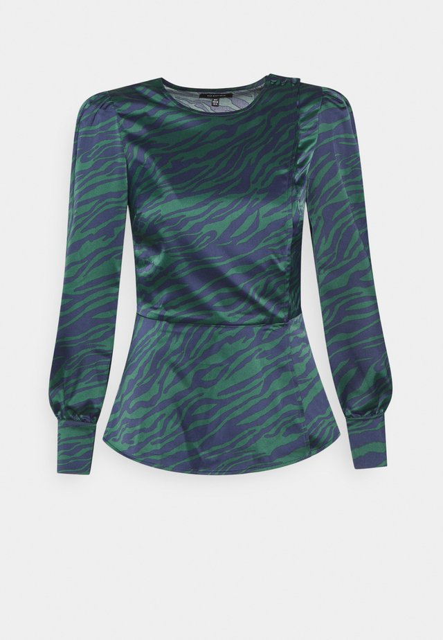 BUTTON NECK - Blouse - green