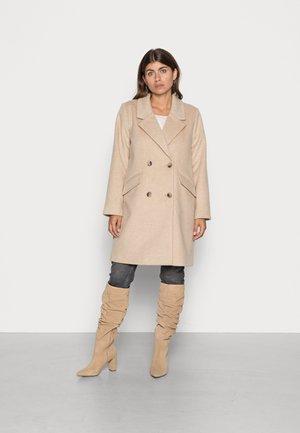 OBJKENIA COAT  - Classic coat - sandshell melange