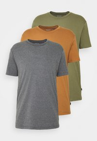 Burton Menswear London - 3 PACK - Basic T-shirt - khaki - 6