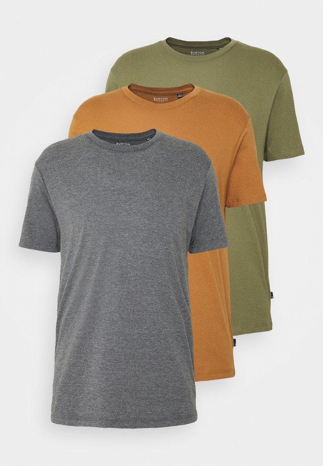 3 PACK - T-shirt basic - khaki